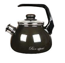 """Чайник эмалированный со свистком """"Bon appetit"""" 2 литра"""