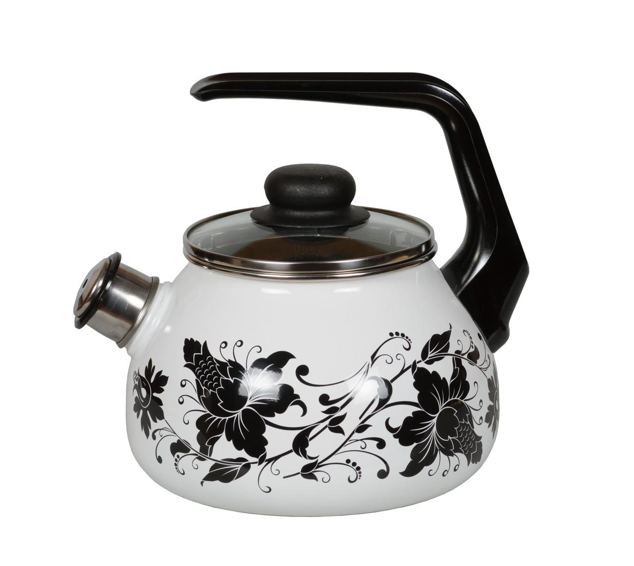 """Чайник эмалированный со свистком """"Tango"""" 2 литра"""