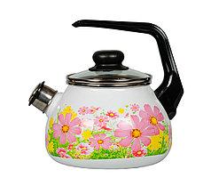 """Чайник эмалированный со свистком """"Verano"""" 2 литра"""