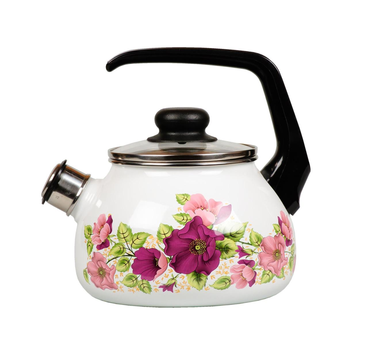 """Чайник эмалированный со свистком """"Violeta"""" 2 литра"""
