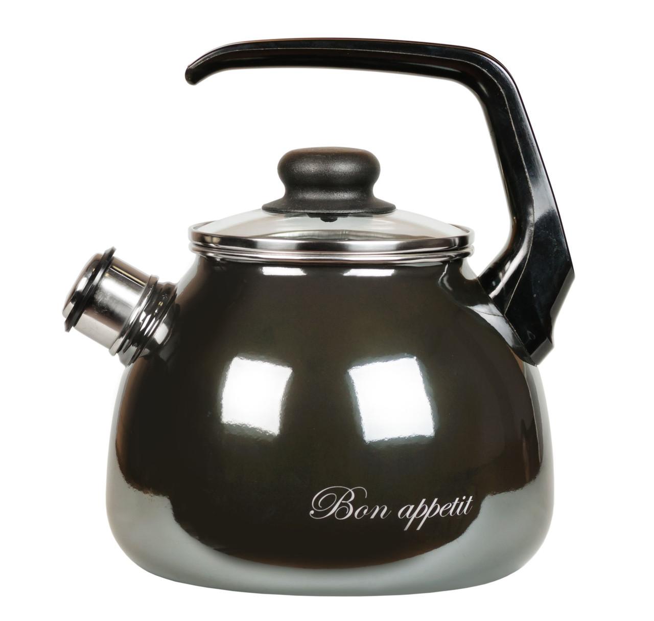 """Чайник эмалированный со свистком """"Bon appetit"""" 3 литра"""