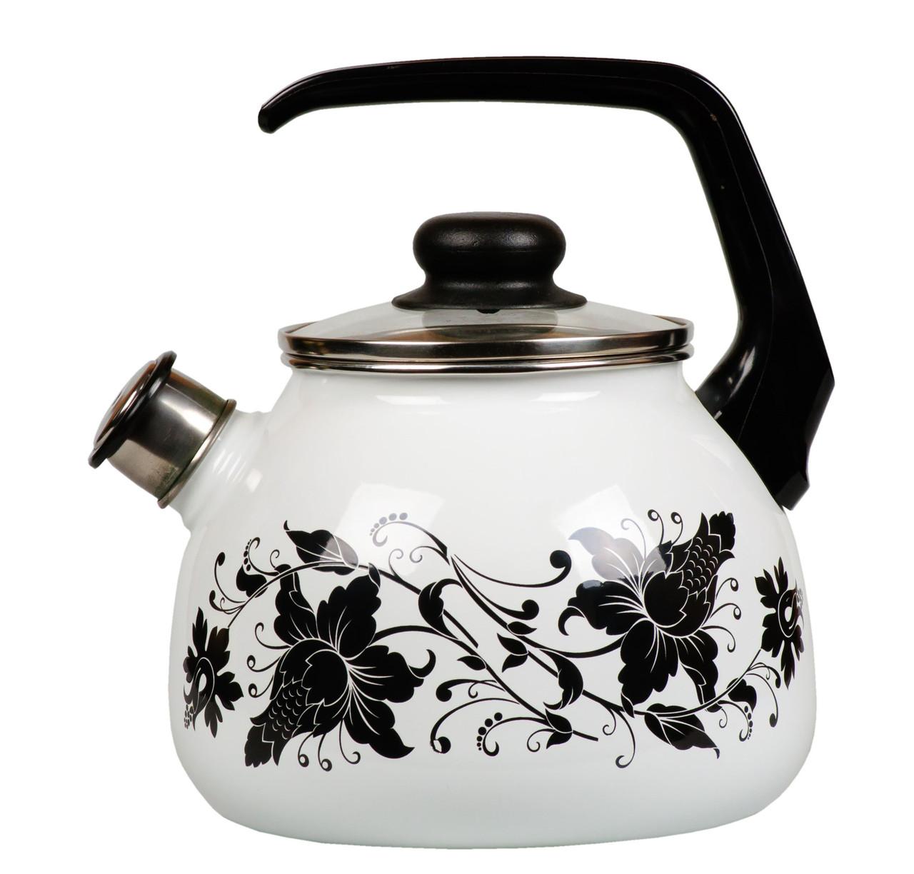 """Чайник эмалированный со свистком """"Tango"""" 3 литра"""