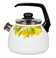 """Чайник эмалированный со свистком """"Limon"""" 3 литра"""