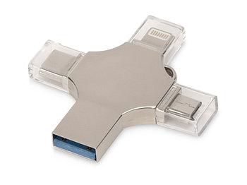 USB-флешка 3.0 на 32 Гб 4-в-1 Ultra, серебристый