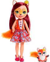 Большая кукла 31 см Enchantimals Фелисити Лис и Флик FRH51/FRH53