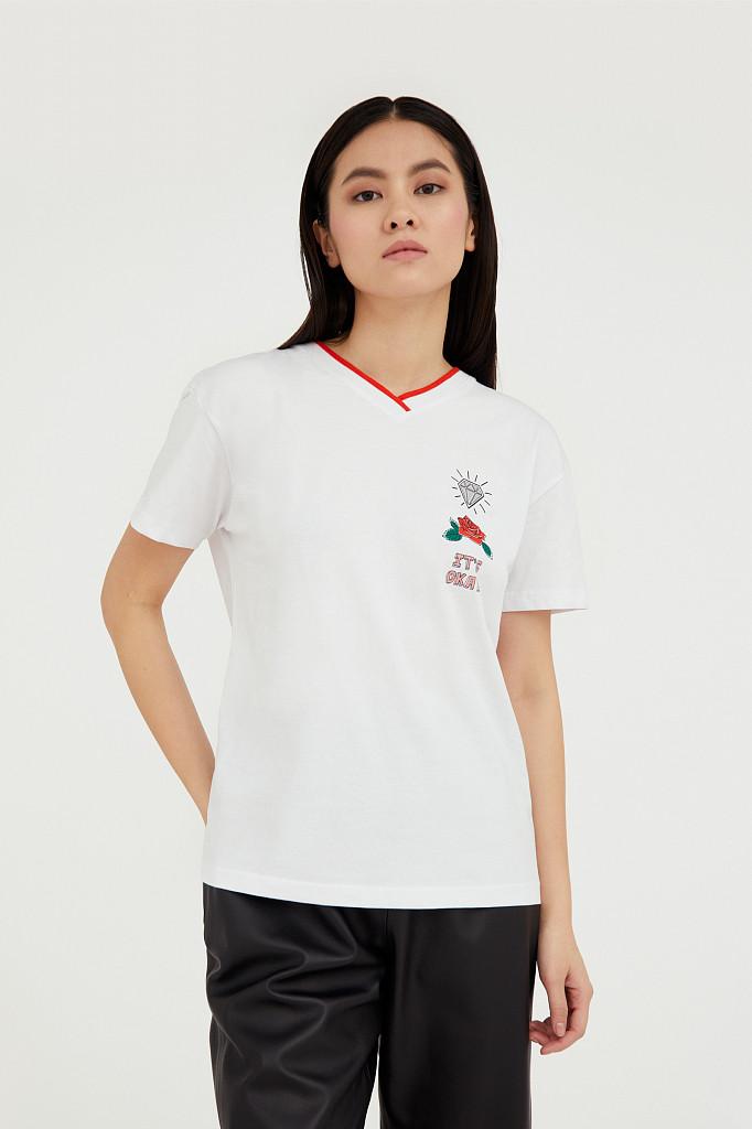 Футболка женская Finn Flare, цвет белый, размер 2XL - фото 2