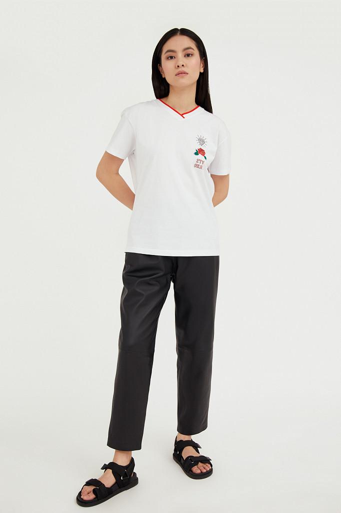 Футболка женская Finn Flare, цвет белый, размер 2XL - фото 3