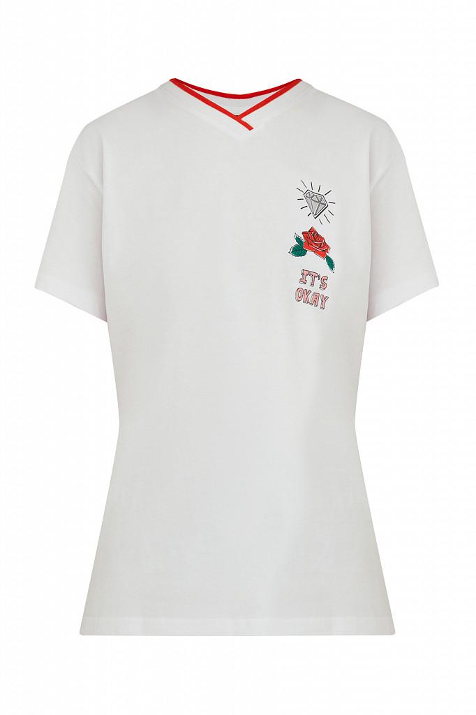 Футболка женская Finn Flare, цвет белый, размер 2XL - фото 7