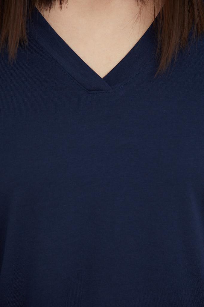 Лонгслив женский Finn Flare, цвет темно-синий, размер 2XL - фото 5