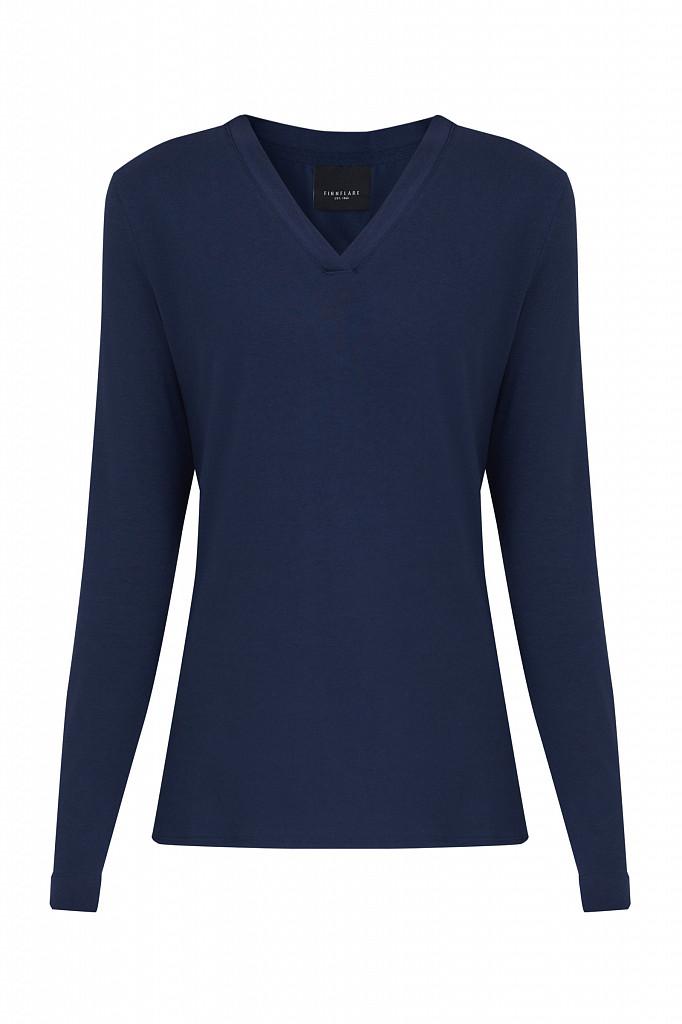 Лонгслив женский Finn Flare, цвет темно-синий, размер 2XL - фото 7