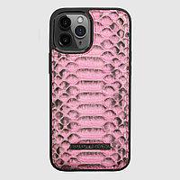 Чехол для телефона iPhone 12 Pro Max питон розовый