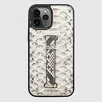 Чехол для телефона iPhone 12 Pro Max с ремешком-держателем питон натуральный