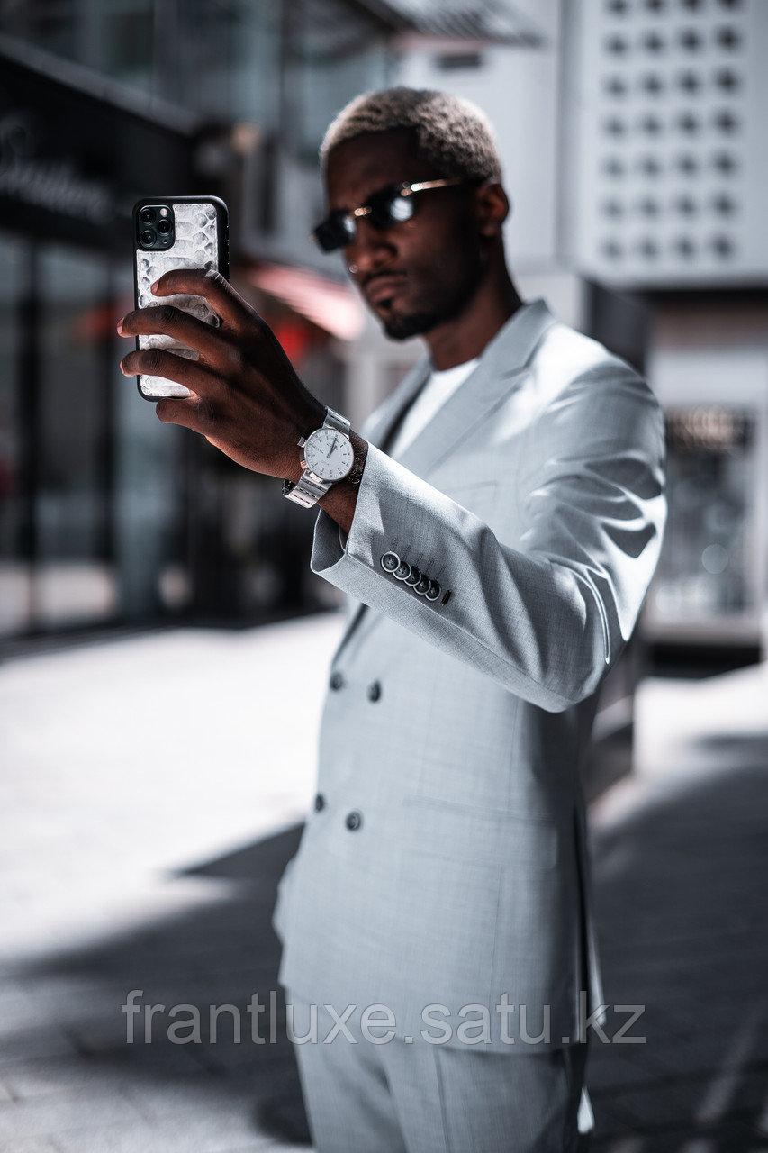 Чехол для телефона iPhone 12 Pro Max питон натуральный - фото 10