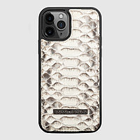 Чехол для телефона iPhone 12/12 Pro питон натуральный