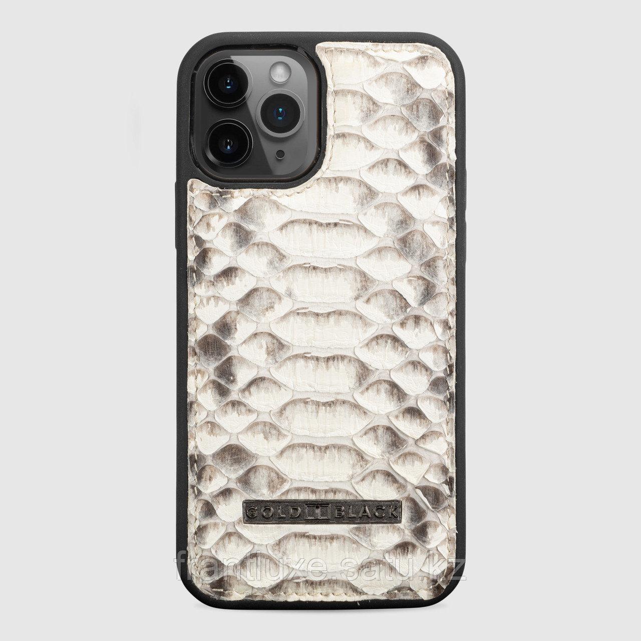 Чехол для телефона iPhone 12/12 Pro питон натуральный - фото 1