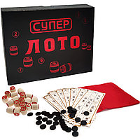 """Настольная игра """"Супер лото"""" в картонной коробке 24*19 см"""
