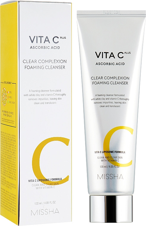 Missha С. Vita C Plus Clear Complexion Foaming Cleanser,120ml Очищающая пенка для умывания c витамином С