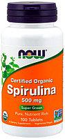 БАД Спирулина, 500 мг (100 таблеток) Now Foods