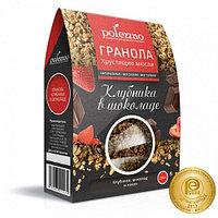 Polezzno гранола клубника в шоколаде, 250 гр