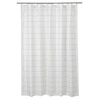 Штора для ванной, РЭЛЛЬШЁН белый/серый 180x200 см ИКЕА IKEA