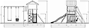 "Детская площадка Савушка Мастер-2 с качелями ""Гнездо"" 1 метр, фото 7"