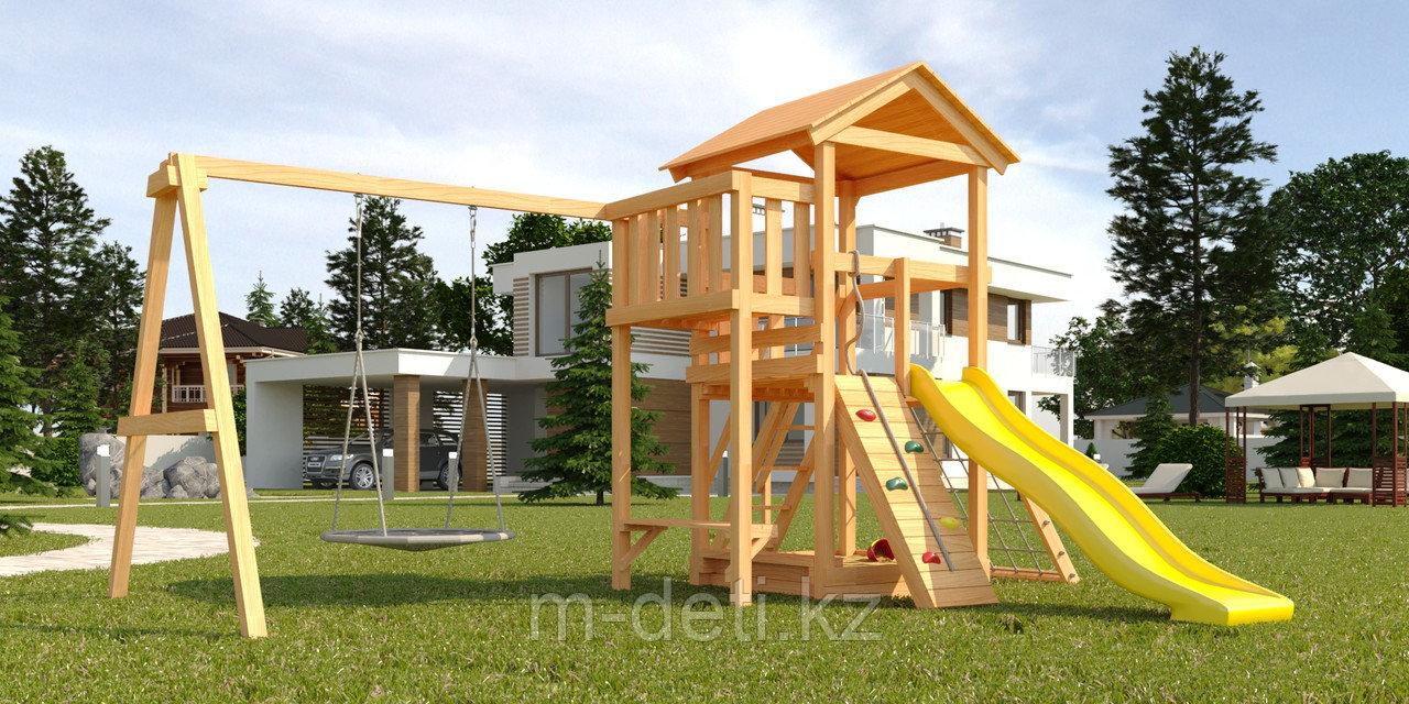 """Детская площадка Савушка Мастер-2 с качелями """"Гнездо"""" 1 метр"""
