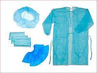 Комплект хирургический КХ-3 (шапочка, халат, маска, бахилы)