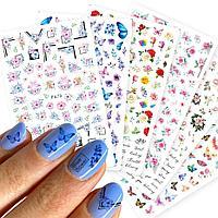 Наклейки слайдеры для ногтей в ассортименте Баян Сулу