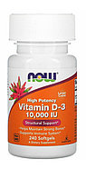 Now Foods  Витамин Д3 10 000 МЕ, Vitamin D3 240 капсул.
