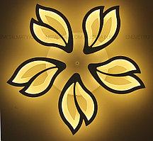 Люстра светодиодная на 5 ламп, на 120W, цвет белый, стиль совеременный