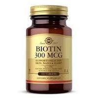 БАД Биотин 300 мкг (100 таблеток) Solgar