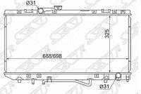 Радиатор охлаждения двигателя TY0002ST180 Sat/Toyota Carina ED/Exiv/Celica 1.8/2.0 89-92