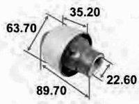 Сайлентблок переднего рычага задний AAMMA1021 Tenacity/Mazda MPV 99-06