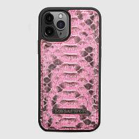Чехол для телефона iPhone 12/12 Pro питон розовый