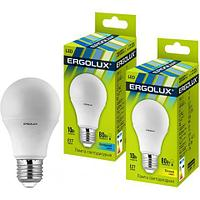 Эл. лампа светодиодная Ergolux A60/3000K/E27/10Вт, Тёплый