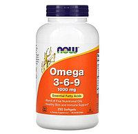 Now Foods, омега 3-6-9, 1000 мг, 250 мягких таблеток