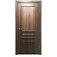 Межкомнатная дверь - ДЛ 505 ПГ Орех - Экошпон