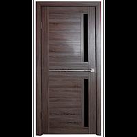 Межкомнатная дверь - Техно 2 Дуб серый - Экошпон