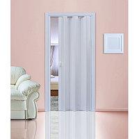 Межкомнатная дверь «Гармошка» белая
