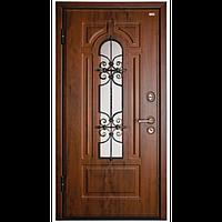 Наружная входная дверь мд. 17 Арка Орех