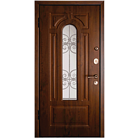 Внутренняя входная дверь мд. 17 Арка Орех