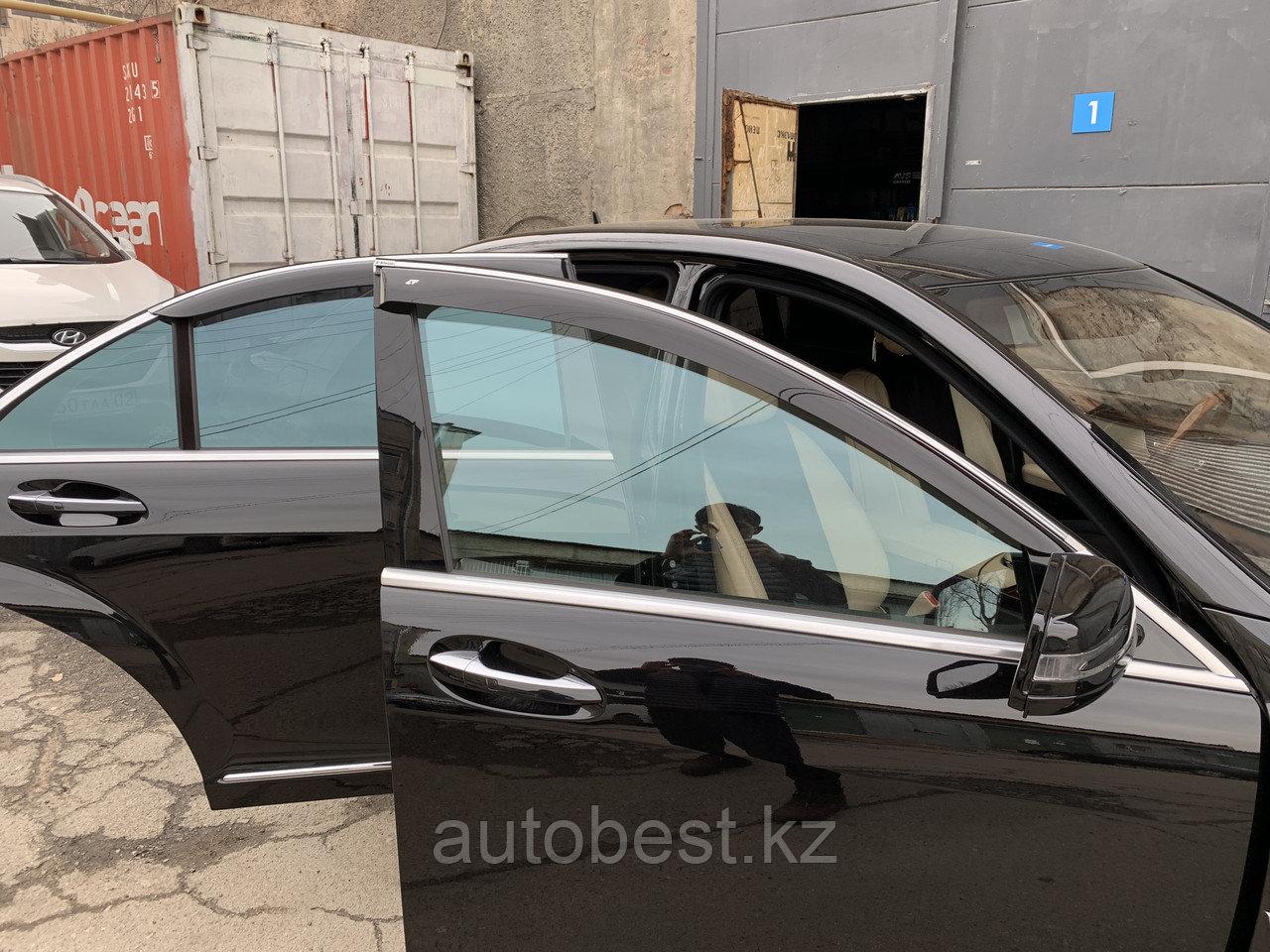 Ветровики на Mercedes- Benz на w221 Long  /дефлекторы боковых окон на мерседес, w221 и др.
