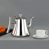 Чайник заварочный с ситом и удобной ручкой для чая и кофе из нержавеющей стали 1,2 л Kashi kettle Xiong Qiang