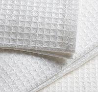 Ткань вафельная, ширина 80 см, белая