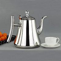 Чайник заварочный с ситом и удобной ручкой для чая и кофе из нержавеющей стали 2,4 л Kashi kettle Xiong Qiang