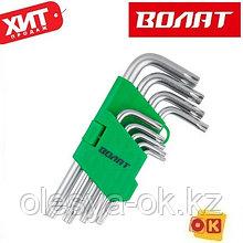 Набор ключей Torx T10-T50 9шт коротких с отверстием ВОЛАТ (11025-09)