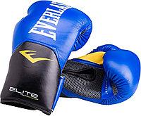 Боксерские перчатки Everlast Elite ProStyle синие, красные
