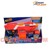 Автомат Nerf бластер с поролоновыми снарядами цвет (красно-оранжевый)
