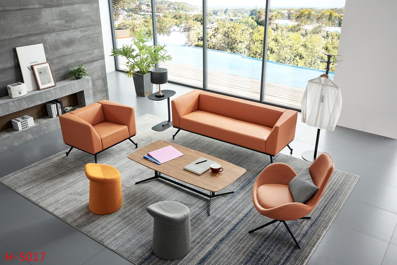 Диван с креслами для офиса  3+1+1