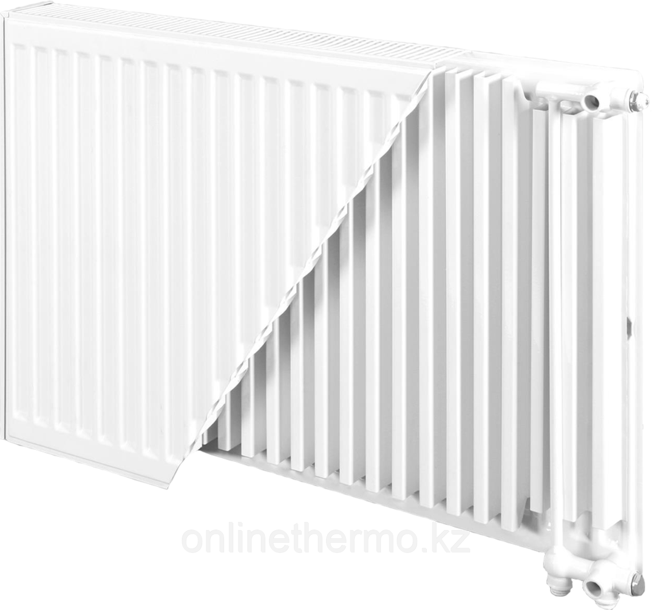 Радиатор стальной тип 22VK H500мм*L1000мм панельный Bjorne нижнее подключение - фото 1